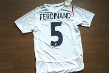 England #5 Ferdinand 100% Original Soccer Football Jersey S 2006 NWT [2587]