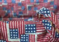 Longaberger  Small Market Basket Liner Old Glory Nib