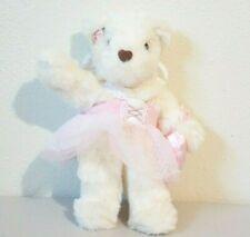 "1998 Avon Angel Wings Teddy Bear with Pink Tutu Stuffed Animal Plush 12"""