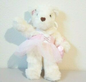 1998 Avon Angel Wings Teddy Bear with Pink Tutu Stuffed Animal Plush 12""