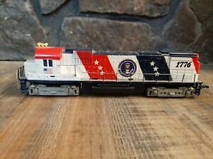 Tyco HO Vintage Red White & Blue Bicentennial 1776 Locomotive Train Engine 4301