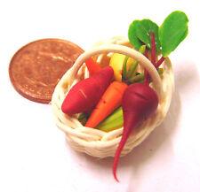 1:12 Verdure Miste In Cesto DOLLS HOUSE miniatura cibo Cucina Accessorio T1