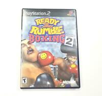 Ready 2 Rumble Boxing: Round 2 (Sony PlayStation 2, 2000) PS2 Complete CIB