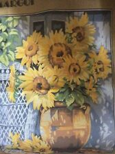 Margot Tapestry Canvas Sunflowers Large