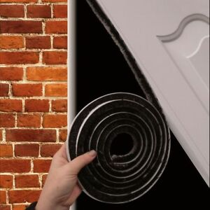 Garage Door Brush Pile Draught Excluder Seal or Threshold Floor Seal Gaps Kit