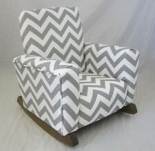 new childrens upholstered rocking chair zig zag chevron gray toddle rock for kid
