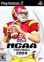 NCAA Football 2004 (Sony PlayStation 2, 2003) PS2 Game, Case, Manual, CIB