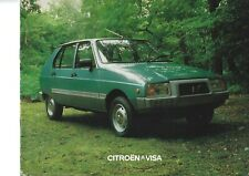 Citroen Visa UK Market Brochure September 1980 Includes Club & Super E Models