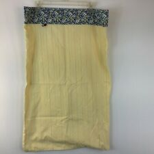 "Tommy Hilfiger Home Pillowcase Yellow Blue Striped Floral 30"" x 19"" Farmhouse"