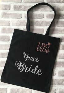 Personalised Tote BagTeam Bride To Be Squad Tribe Hen Do Night Party Bridesmaid