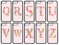 PINK FLORAL INITIAL LETTER Personalised Phone Case Cover iPhone Compatible