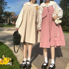 Women Japanese Style Kawaii Lovely Casual Jumpsuit Dress Lolita Clothes Sweet
