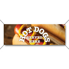 More details for hot dogs served here pvc banner outdoor cafe ready 2 hang frankfurters sausage