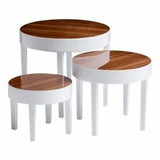 Round Modern Nested Tables with 3 Pieces