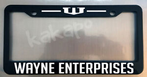 Wayne Enterprises Black License Plate Frame Batman fans