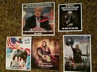 Lot Of 5 Donald Trump 2020 Funny Pro TRUMP Stickers
