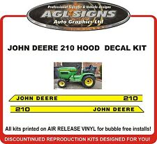 JOHN DEERE 210 Tractor Hood replacement Decal Kit  , reproductions