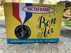 Vintage Metaframe Aquarium Bon Air Air Pump NOS in box!