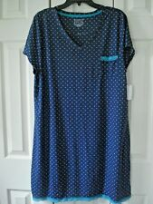 Ladies NIghtgown Navy   Lace  Pocket Size 1X  New