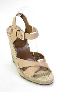 Joie Womens Leather High Wedge Heel Ankle Strap Sandals Blush Pink Size 38 EUR