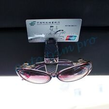 Sun Visor Glasses ID Cards Holder Clip Rotatable Style Interior Auto Accessories