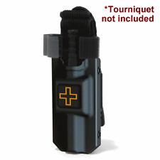 Eleven 10 BLACK Rigid TQ Case for CAT Cross Front w/ MOLLE Malice Clip 3021M-BLK
