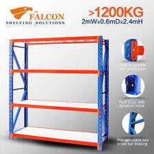 Longspan Industrial Storage Garage Shelving Racking Racks Shelf, 2Wx0.6Dx2.4mH S