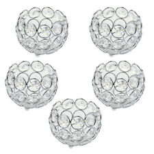 5x Crystal Candle Holders Candlesticks Home Dining Wedding Table Centerpiece