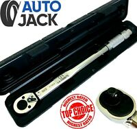 """3/8"""" Square Drive Ratchet Torque Wrench Calibrated Tool 19 - 110 Nm with Case"""