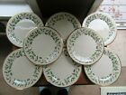 """8 - Lenox Dimensions Christmas Holly & Berries HOLIDAY China Dinner Plates 10"""""""