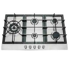 30 Inch Gas Cooktop - 5 Burner, Metal Knobs, Stainless Steel (Open Box)