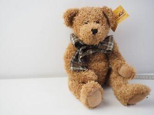 Sunkid Teddybär mit Schleife Stofftier 25 cm sitzend