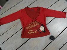 "T-shirt et gilet rouge manches longues imprimé ""Take my hart"" PUCCA Taille 4 ans"