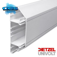 Univolt Starline Dado Trunking 3 Metre Length 50 x 170mm Chamfered 3 Compartment