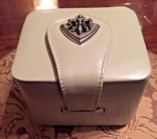 Vicenza c1993 Vintage Gray Leather Cube Evening Purse w/Chain Strap