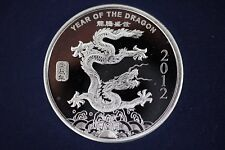 1 oz .999 Fine Silver Round Coin - 2012 Year of the Dragon