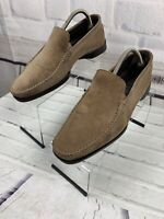 Vincenti Men's Loafers Driving Shoes Nubuck Suede Sz 42 EU 9 US Made In Italy
