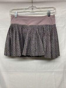 LuluLemon pleated tennis Skirt Lavender Floral Size 4