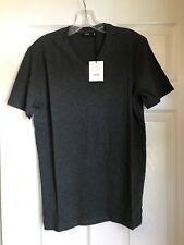 NWT Vince  Men's Pima Cotton V-Neck T-Shirt Short Sleeve Heather Carbon XXL $55