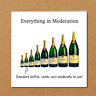 Funny Birthday Card for Wine Lover - Champagne Prosecco - Dad Mum Wife Husband