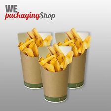 100 porta patate -fritti in cartoncino biologico per alimenti
