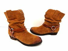 Women's CORSO COMO 'Seaton' Slouchy Suede Zip Up Ankle Boot Brown Size 8 M