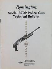 VINTAGE REMINGTON 870P POLICE GUN TECHNICAL BULLETIN BOOKLET IN 2 LANGUAGES