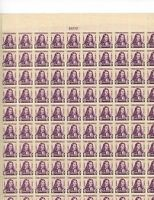 Full mint sheet of 100  #724 3 cent William Penn MNH OG