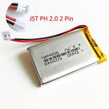 3.7V 900mAh 603048 JST 2.0mm Lipo li-Polymer Battery For mobile phone GPS DVD