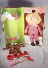 """2008 CHARLIE & LOLA Talking Doll with Case Shoes Toothbrush/Paste Comb 16"""""""