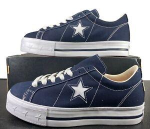Converse One Star Platform Ox Lift Sneaker Blue 564031C 10 Women