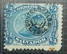 O) 1867 El Salvador, Fake, Volcano Sna Miguel-1/2 Real Blue -Scott A1,Contra Se