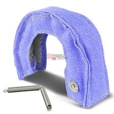 GT25/GT28/GT30/GT35/GT37 TURBO STEEL MESH HEAT SHIELD BLANKET KIT BLUE W/STITCH