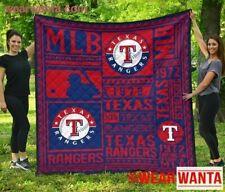 Texas Rangers Quilt Blanket Special Fan Gift Idea